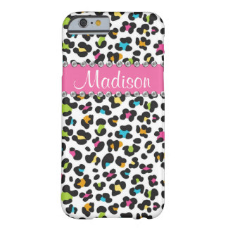 Rainbow Leopard Rhinestone Leopard BLING iPhone Barely There iPhone 6 Case