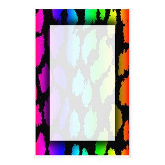 Rainbow Leopard Stationery