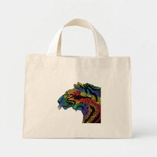 Rainbow Leopard (white) bag