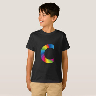 Rainbow Letter 'C for Kids' Hanes TAGLESS® T-Shirt