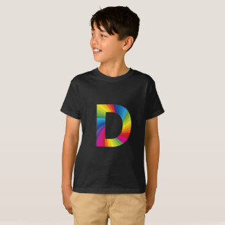 Rainbow Letter 'D for Kids' Hanes TAGLESS® T-Shirt