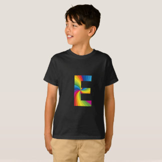 Rainbow Letter 'E for Kids' Hanes TAGLESS® T-Shirt