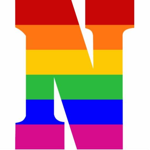 N Rainbow Letter ...