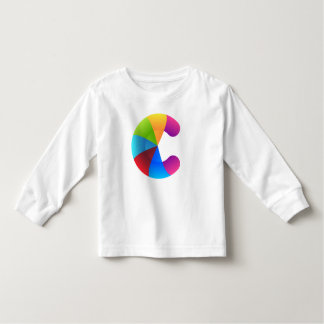 Rainbow Letter of C Toddler Long Sleeve T-Shirt