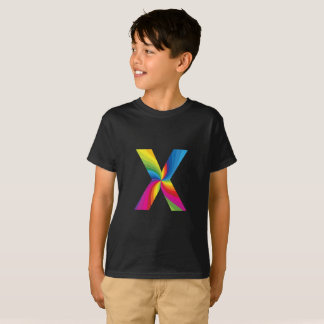 Rainbow Letter 'X for Kids' Hanes TAGLESS® T-Shirt