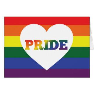 Rainbow LGBT Pride blank card
