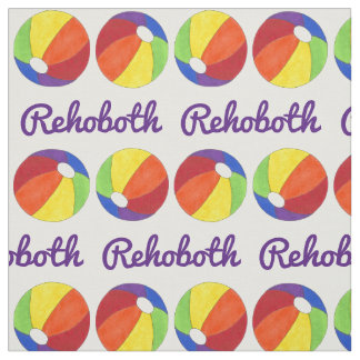 Rainbow LGBT Pride Rehoboth Beach DE Beach Ball Fabric