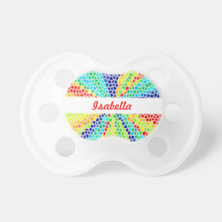 Rainbow Light Mosaic Monogram Pacifier