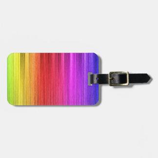 Rainbow Lights Design Luggage Tag