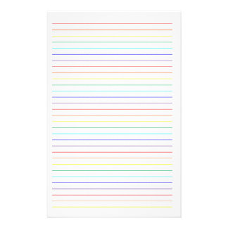 Rainbow Lined Simple Stationary Stationery Design