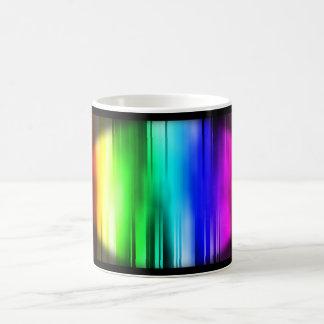Rainbow lines mug
