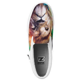 Rainbow Lion Slip-on. Slip-On Sneakers
