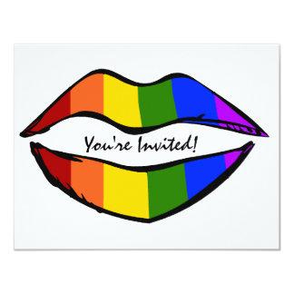 "Rainbow Lips 4.25"" X 5.5"" Invitation Card"