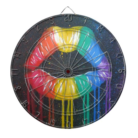 Rainbow Lips Dartboards