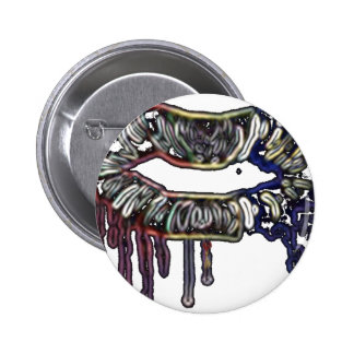 Rainbow lips design 2 inch round button