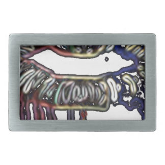 Rainbow lips design belt buckles