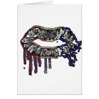 Rainbow lips design card