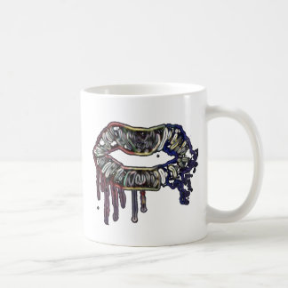 Rainbow lips design coffee mug