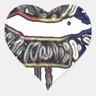Rainbow lips design heart sticker