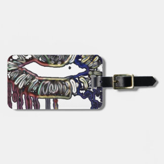 Rainbow lips design luggage tag