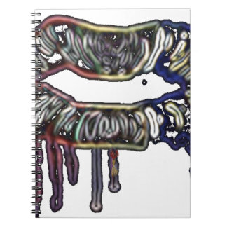 Rainbow lips design notebooks