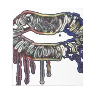 Rainbow lips design notepad