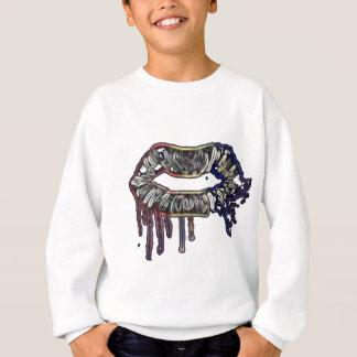Rainbow lips design sweatshirt