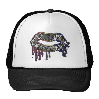 Rainbow lips design trucker hat