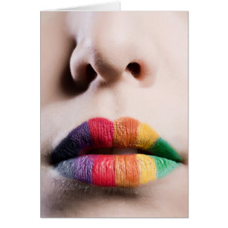 Rainbow Lips Greeting Card