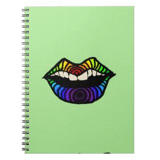 Rainbow Lips Note Book