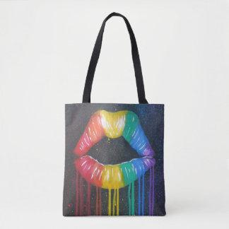 Rainbow Lips Tote Bag