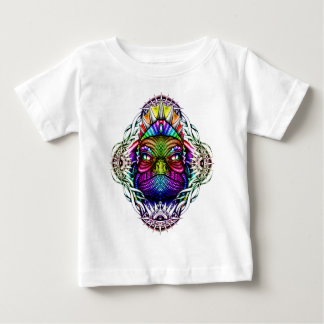 Rainbow Lizard King in Artistic Colorful Eye Frame Baby T-Shirt