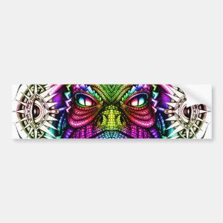 Rainbow Lizard King in Artistic Colorful Eye Frame Bumper Sticker