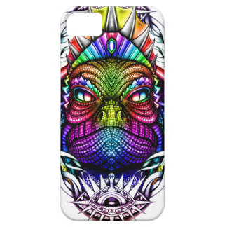 Rainbow Lizard King in Artistic Colorful Eye Frame Case For The iPhone 5
