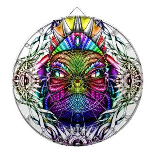 Rainbow Lizard King in Artistic Colorful Eye Frame Dartboards