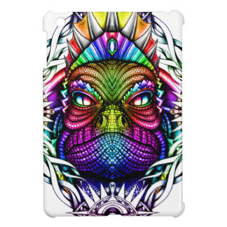 Rainbow Lizard King in Artistic Colorful Eye Frame iPad Mini Cases