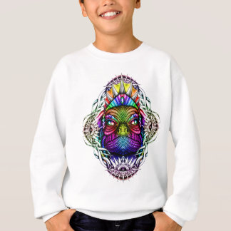 Rainbow Lizard King in Artistic Colorful Eye Frame Sweatshirt