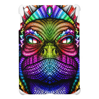Rainbow Lizard King Wearing a Crown Trippy Case For The iPad Mini