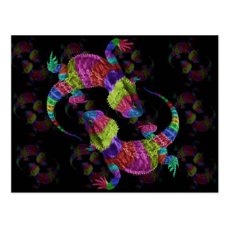 Rainbow Lizards Postcard