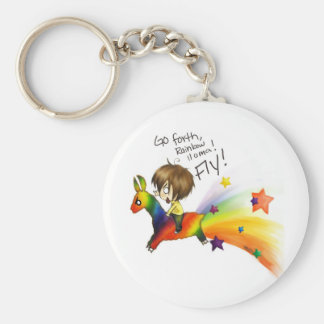 Rainbow Llama Keychain