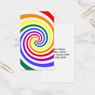Rainbow Lollipop Business Card