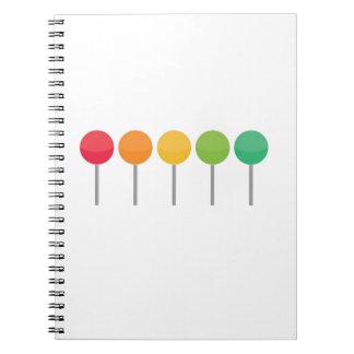 Rainbow lollypop spiral notebook