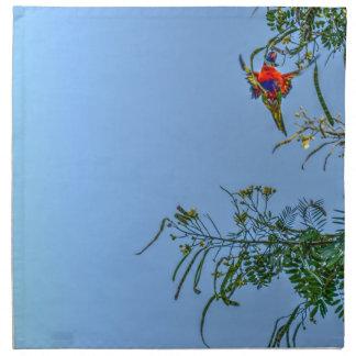RAINBOW LORIKEET AUSTRALIA ART EFFECTS NAPKIN