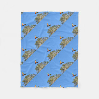 RAINBOW LORIKEET IN FLIGHT QUEENSLAND AUSTRALIA FLEECE BLANKET