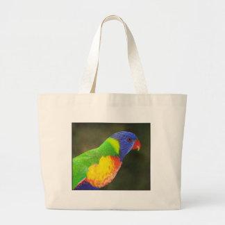 Rainbow lorikeet large tote bag