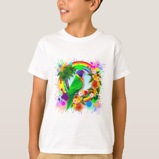 Rainbow Lorikeet Parrot Art T-Shirt