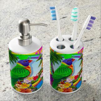 Rainbow Lorikeet Parrot Toothbrush Holder