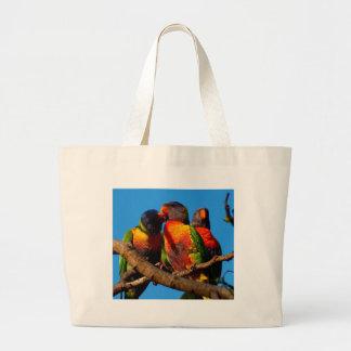 Rainbow Lorikeet photo Large Tote Bag