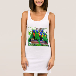 Rainbow Lorikeets Ladies Singlet Tank Dress
