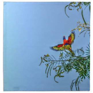 RAINBOW LORIKKET AUSTRALIA ART EFFECTS NAPKIN